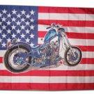 Chopper/USA - 3'X5' Polyester Flag
