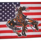 American Indian /  End of Trail - 3'X5' Polyester Flag