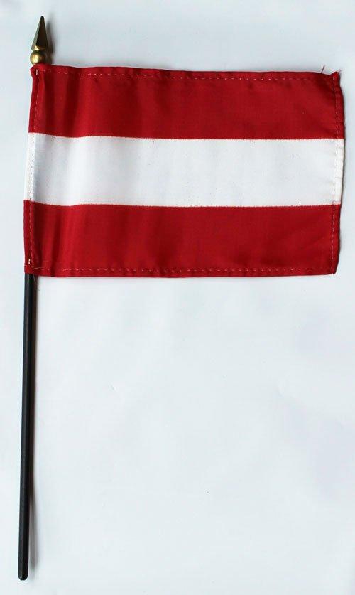 "Austria - 4""""X6"""" Stick Flag"