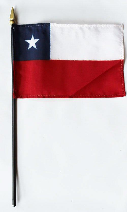 "Chile - 4""""X6"""" Stick Flag"