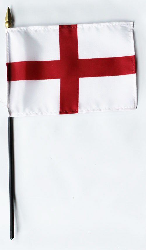 "England (St. George) - 4""""X6"""" Stick Flag"