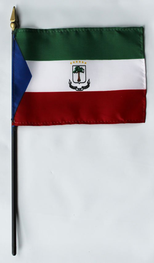"Equatorial Guinea - 4""""X6"""" Stick Flag"