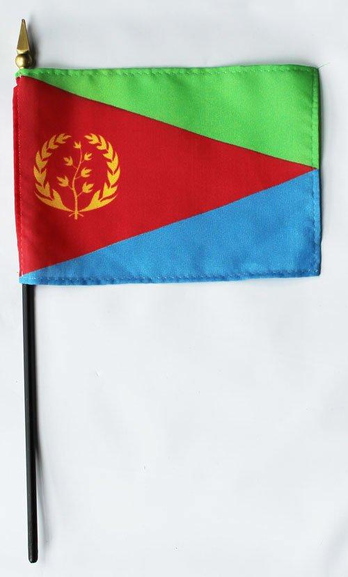 "Eritrea - 4""""X6"""" Stick Flag"