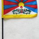 "Tibet - 4""""X6"""" Stick Flag"