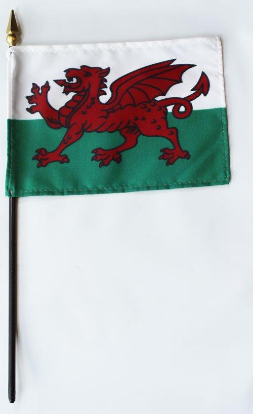 "Wales - 4""""X6"""" Stick Flag"