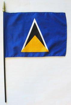 "St. Lucia - 8""""X12"""" Stick Flag"