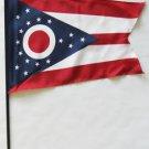 "Ohio - 8""""X12"""" Stick Flag"