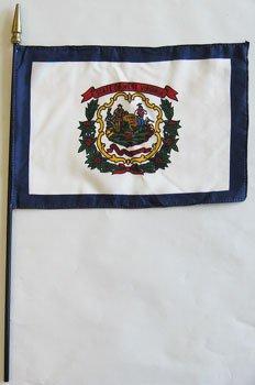 "West Virginia - 8""""X12"""" Stick Flag"