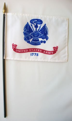 "Army -  4""""X6"""" Stick Flag"