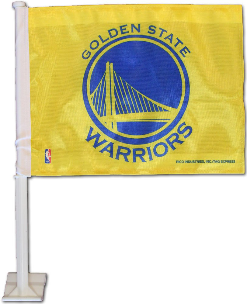 Golden State Warriors Car Flag (yellow)