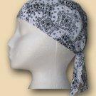 White Paisley Headwrap