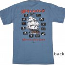 Pirates: Terrors of the Seas Blue Cotton T-Shirt (S)
