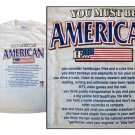 USA T-Shirt (You Must Be) (XL)
