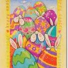 Peek-a-boo Bunny Toland Art Banner