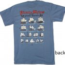 Pirate Ships and Pirate Hunters Blue Cotton T-Shirt (XXL)
