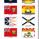 Canadian Provinces 20 Count Sticker Pack