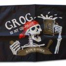 "Grog is My Co-Pirate - 12""""X18"""" Nylon Flag"