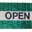 Open - 3'X5' Nylon Flag (green/white/green)