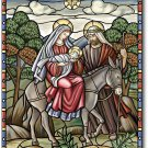 Stained Glass Nativity Toland Art Banner
