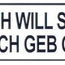 Ich Will Spass - European License Plate (Germany)