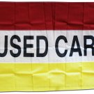 Used Cars - 3'X5' Nylon Flag (Red/White/Yellow)