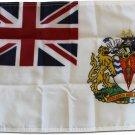 """British Antarctic Territory (White) - 12""""X18"""" Nylon Flag"""