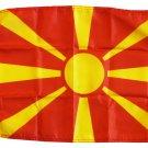 "Macedonia - 12""""X18"""" Nylon Flag"