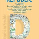 Dominican Republic - Laminated Borch Road Map