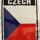 Czech Republic Reflective Decal