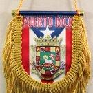 Puerto Rico Window Hanging Flag (Shield)