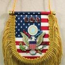 USA Window Hanging Flag (Shield)