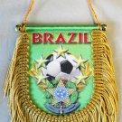 Brazil (Soccer Ball) Window Hanging Flag (Shield)