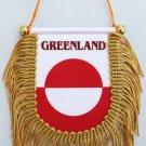 Greenland Window Hanging Flag (Shield)
