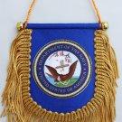Navy Window Hanging Flag (Shield)