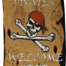 "Pirates Welcome Here - 12"" x 18"" Garden Banner"