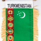 Turkmenistan Window Hanging Flag