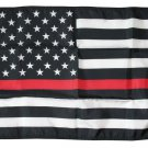 "Thin Red Line - 12""X18"" Nylon Flag"
