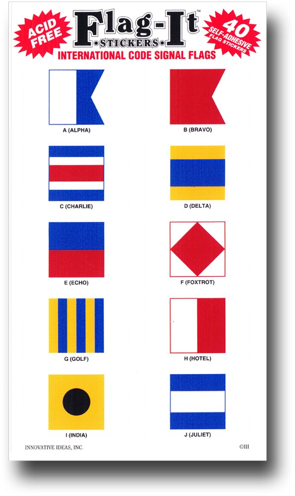 Nautical Code Signal 40 Count Sticker Pack