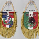 Dominican Republic-Mexico Window Hanging Flag (Shield)