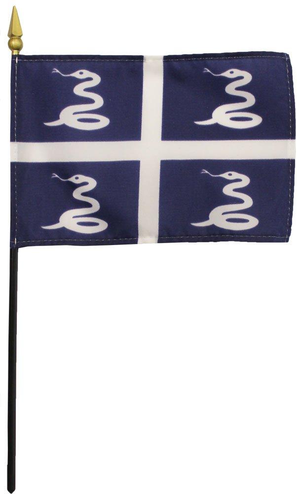 """Martinique - 4"""" X 6"""" Stick Flag"""