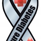 "Cure Diabetes - 4"" x 8"" Ribbon Magnet"