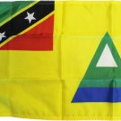 "Nevis - 12""X18"" Nylon Flag"