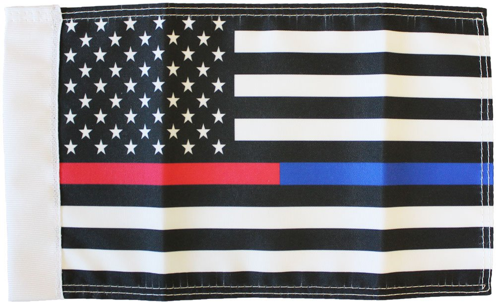 Thin Red Line Thin Blue Line (USA) Motorcycle Flag