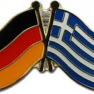 Germany Greece Friendship Lapel Pin