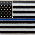 Thin Blue Line (USA) Rectangular Lapel Pin