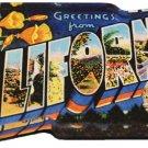 California Acrylic Postcard Magnet