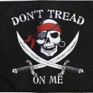 "Don't Tread on Me Pirate - 12""X18"" Nylon Flag (Swords)"