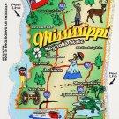 Mississippi State Map Die Cut Sticker