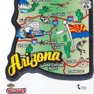 Arizona State Map Die Cut Sticker