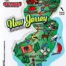 New Jersey State Map Die Cut Sticker